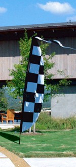 9ft Checkered Feather Banner