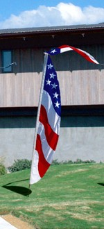 9ft Patriotic Feather Banner